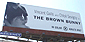 The Brown Bunny Billboard on Sunset Blvd.